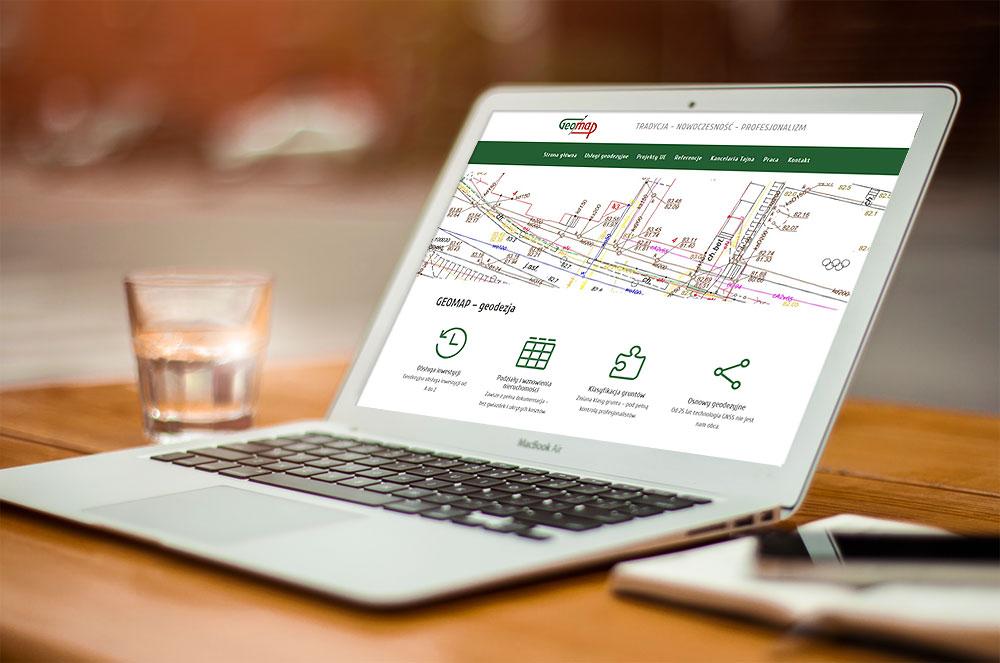 Projekt strony www GEOMAP